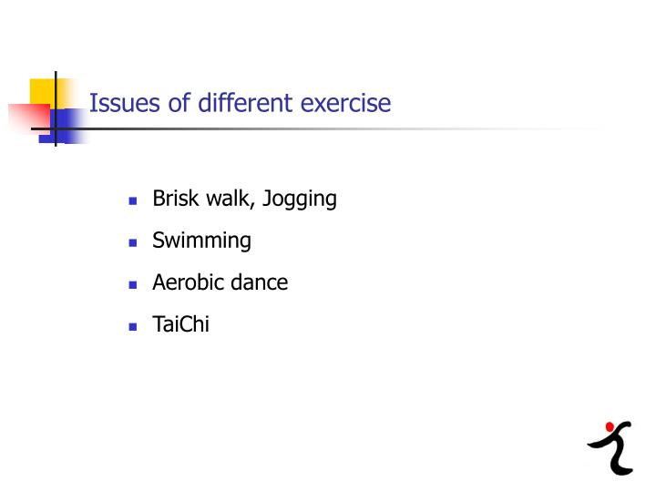 Issues of different exercise