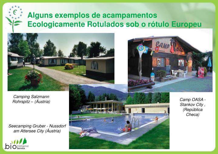 Alguns exemplos de acampamentos