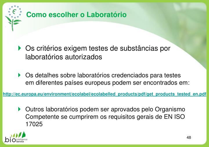 Como escolher o Laboratório