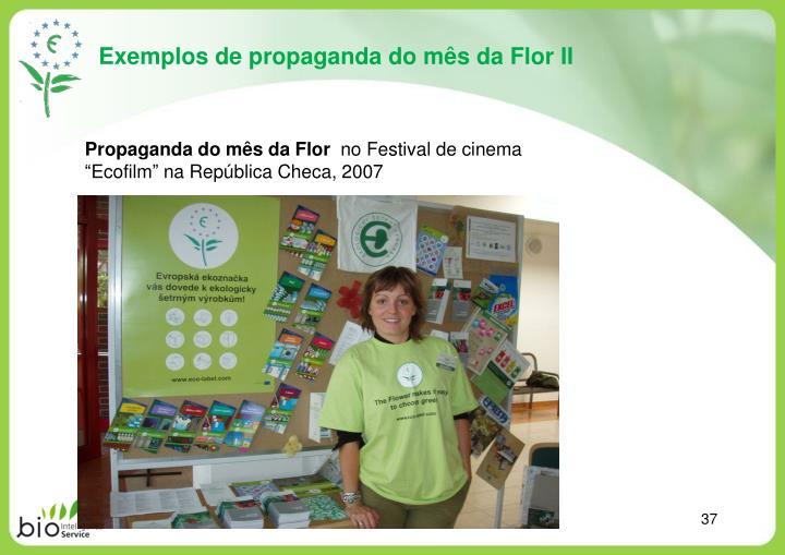 Exemplos de propaganda do mês da Flor II