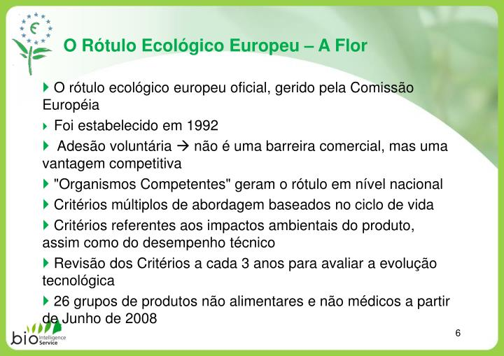 O Rótulo Ecológico Europeu – A Flor