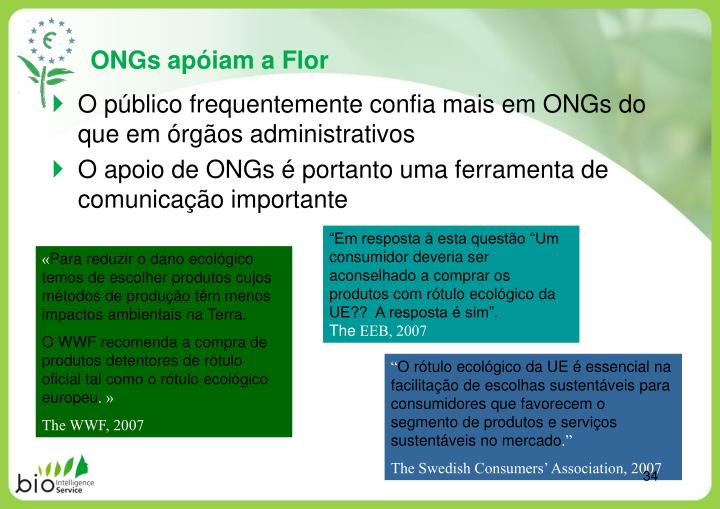 ONGs apóiam a Flor