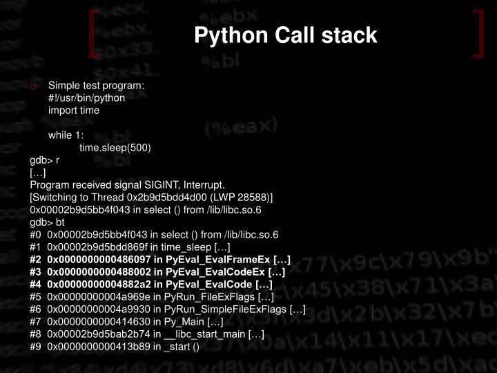 Python Call stack