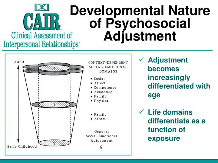 Developmental Nature of Psychosocial