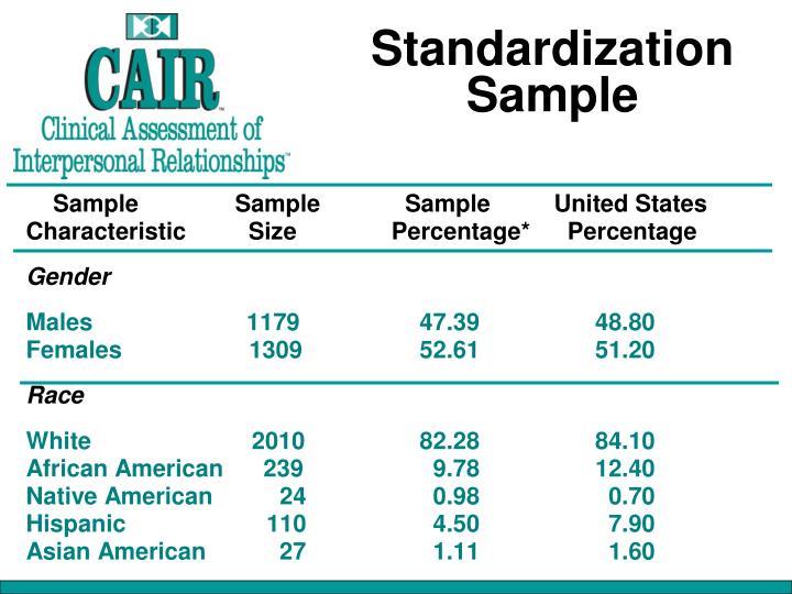 Standardization Sample