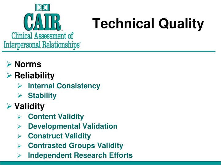 Technical Quality
