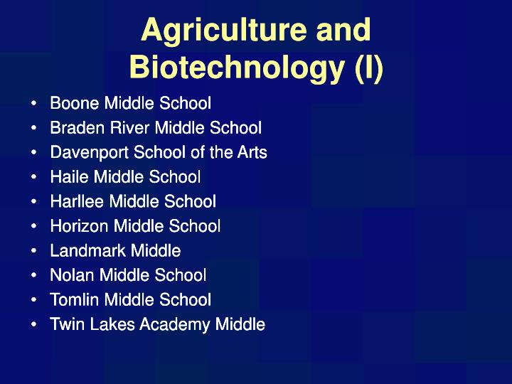 agriculture and biotechnology i n.