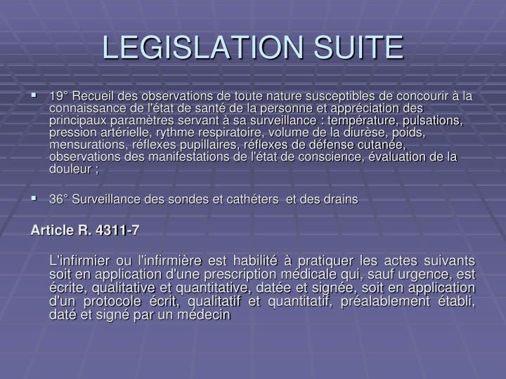 Legislation suite