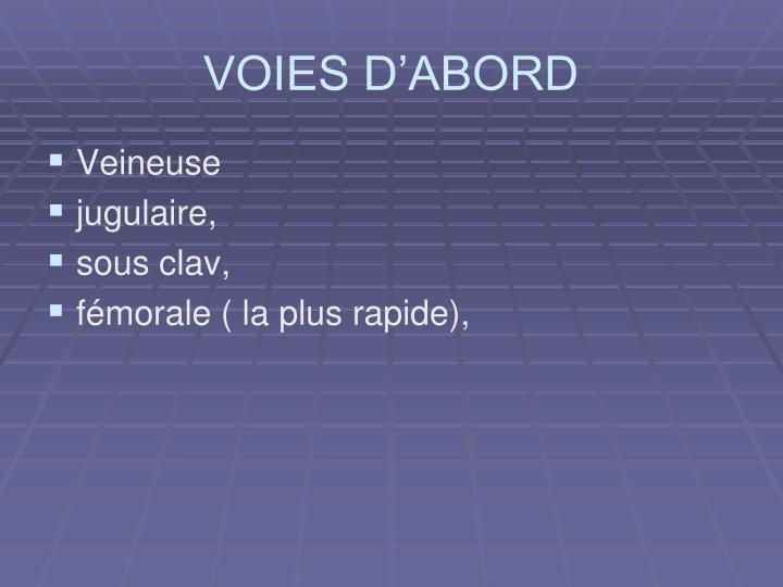 VOIES D'ABORD