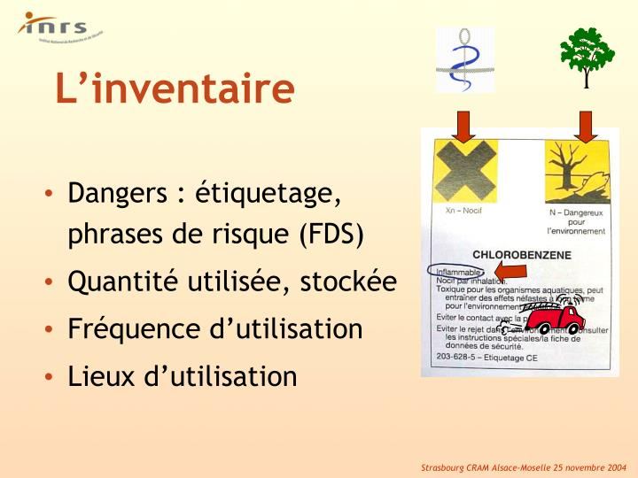 Dangers : étiquetage, phrases de risque (FDS)