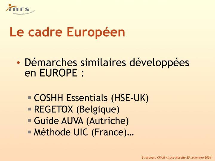 Le cadre Européen