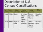 description of u s census classifications3