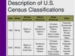 description of u s census classifications4