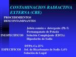 contaminacion radiactiva externa cre3