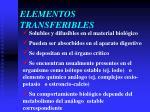 elementos transferibles