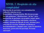 nivel 3 hospitales de alta complejidad
