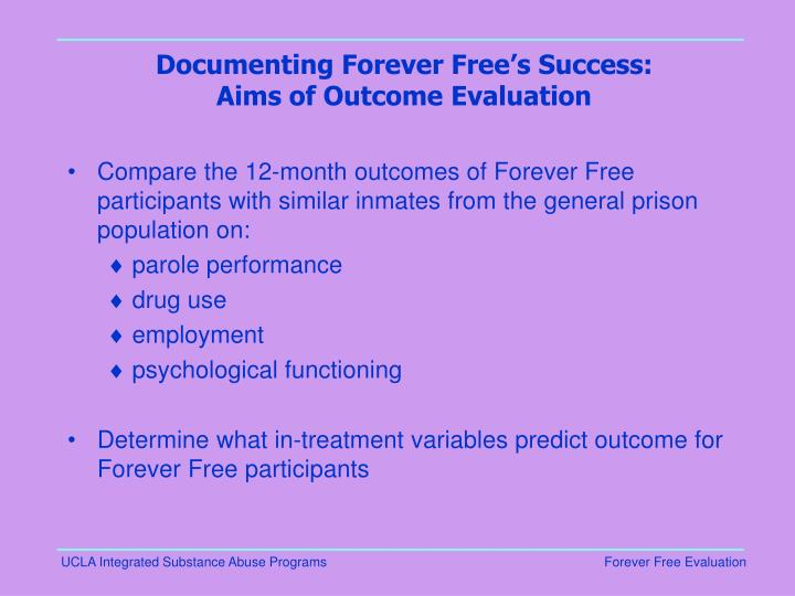 Documenting Forever Free's Success: