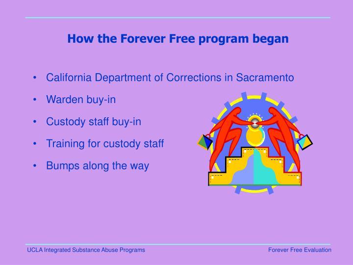 How the Forever Free program began