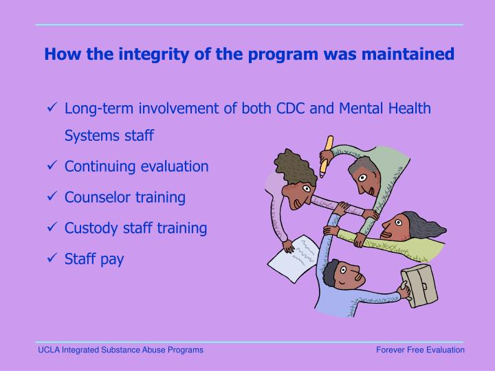 How the integrity of the program was maintained