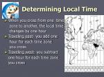 determining local time