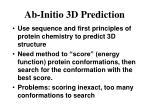 ab initio 3d prediction