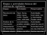 etapas y actividades b sicas del sistema de vigilancia