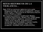 hitos historicos de la vigilancia