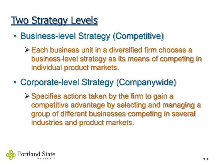Two Strategy Levels