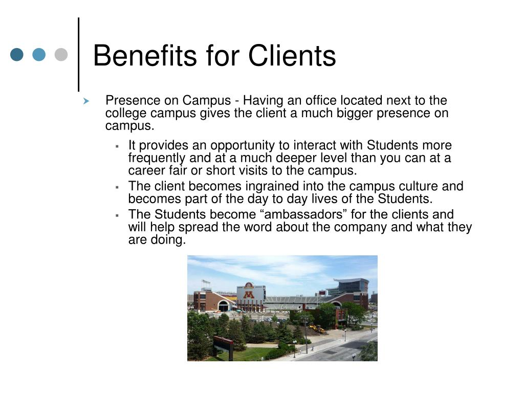Benefits for Clients