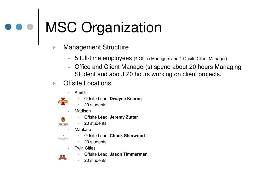 MSC Organization