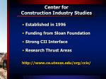 center for construction industry studies1