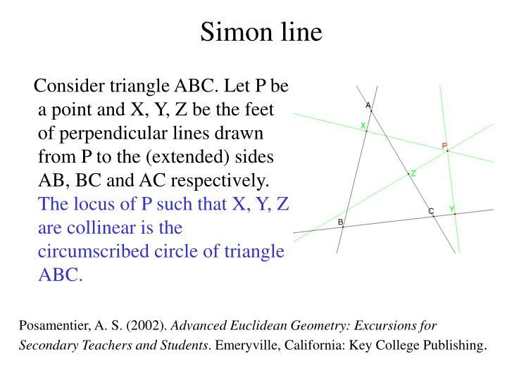 Simon line