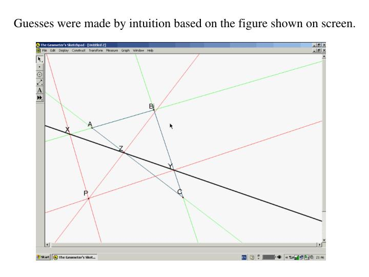 Guesses were made by intuition based on the figure shown on screen.