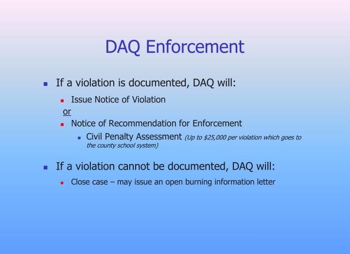 DAQ Enforcement