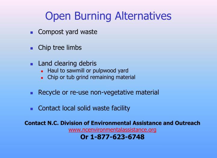Open Burning Alternatives