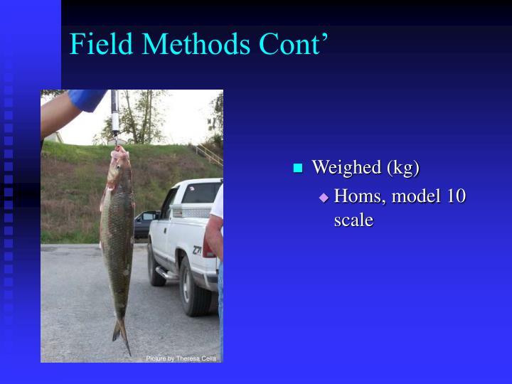 Field Methods Cont'