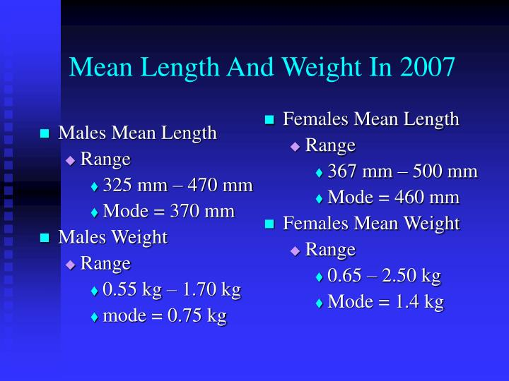 Males Mean Length