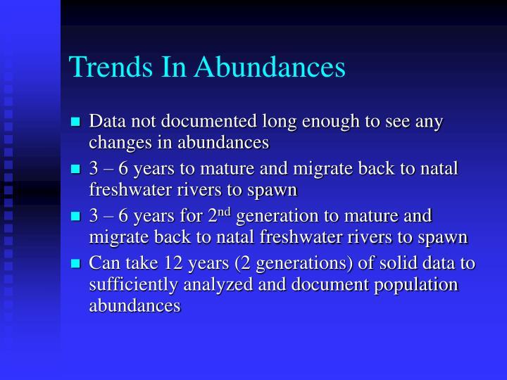 Trends In Abundances