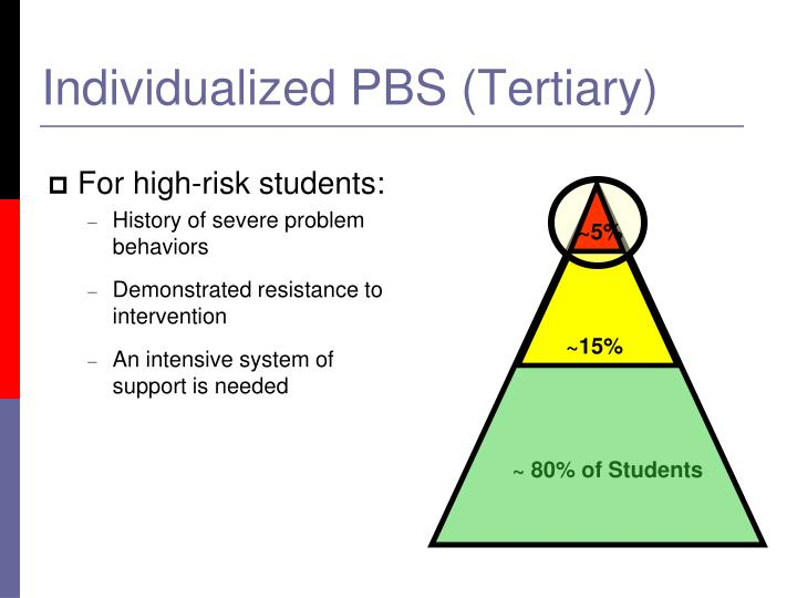For high-risk students: