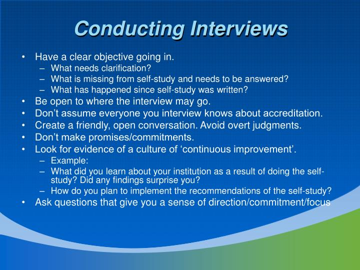 Conducting Interviews