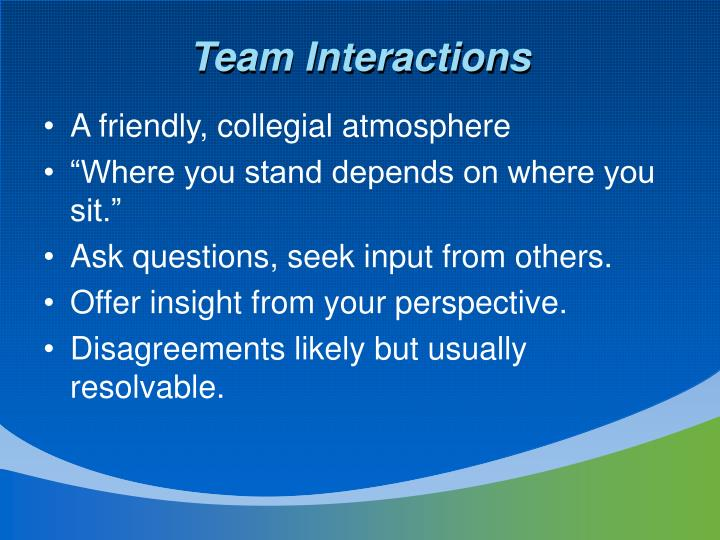Team Interactions