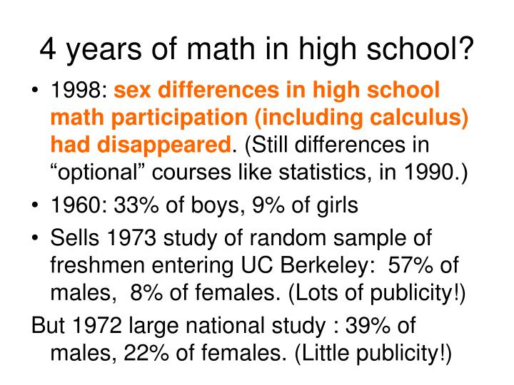 4 years of math in high school?