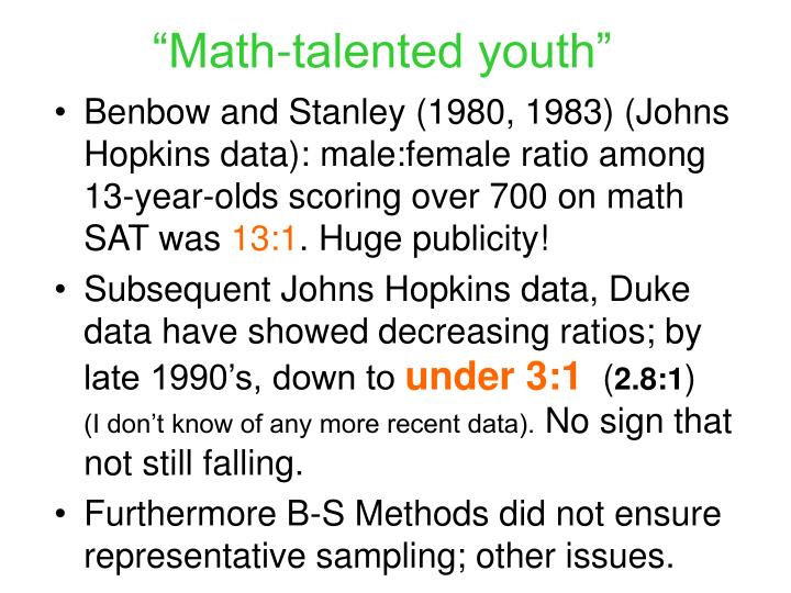 """""""Math-talented youth"""""""