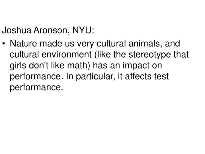 Joshua Aronson, NYU: