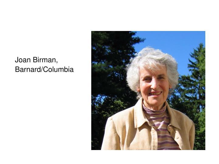 Joan Birman,