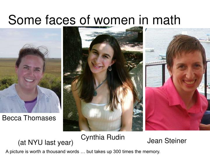 Some faces of women in math