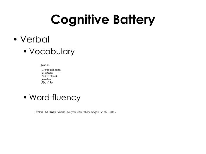 Cognitive Battery