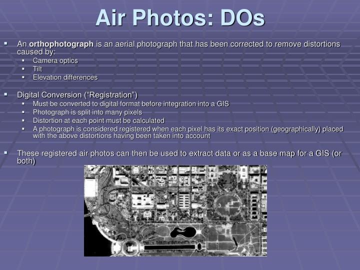 Air Photos: DOs