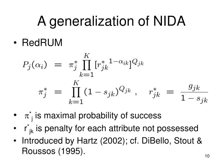 A generalization of NIDA