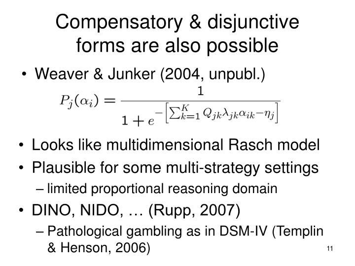 Compensatory & disjunctive